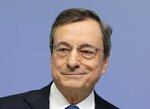 President of European Central Bank Mario Draghi comes to a press conference after chairing his last policy meeting in Frankfurt, Germany, Thursday, Oct. 24, 2019. (AP Photo/Michael Probst)