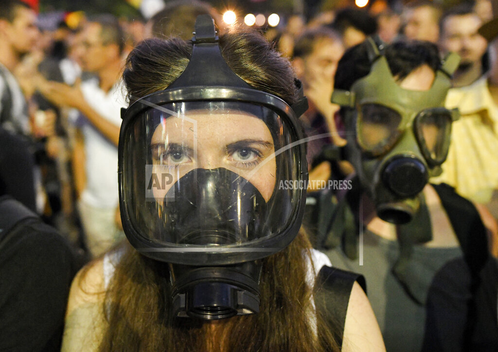 APTOPIX Romania Protest