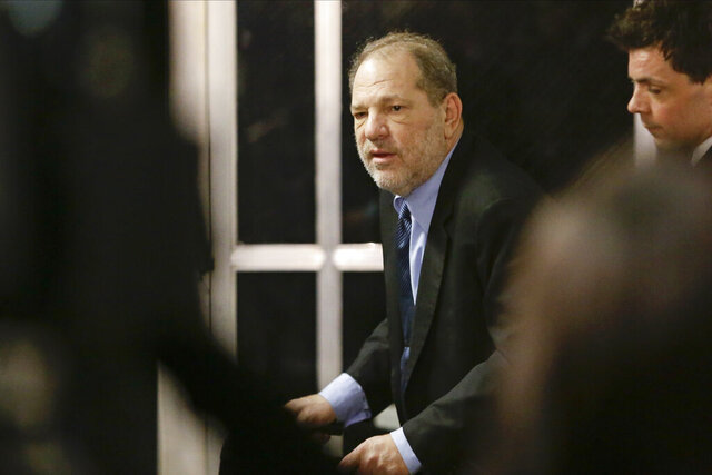 Harvey Weinstein leaves his trial Tuesday, Feb. 11, 2020, in New York. (AP Photo/Frank Franklin II)