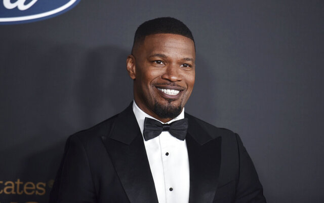 "FILE - In this Feb. 22, 2020, file photo, Jamie Foxx arrives at the 51st NAACP Image Awards at the Pasadena Civic Auditorium in Pasadena, Calif. The Pixar film ""Soul"" will skip theaters and instead premiere on Disney+ on Christmas, the Walt Disney Co. announced Thursday, Oct. 8, 2020, sending one of the fall's last big movies straight to streaming. The film, about a middle school teacher played by Foxx, with dreams of becoming a jazz musician, was originally to premiere at the Cannes Film Festival. (Photo by Richard Shotwell/Invision/AP, File)"