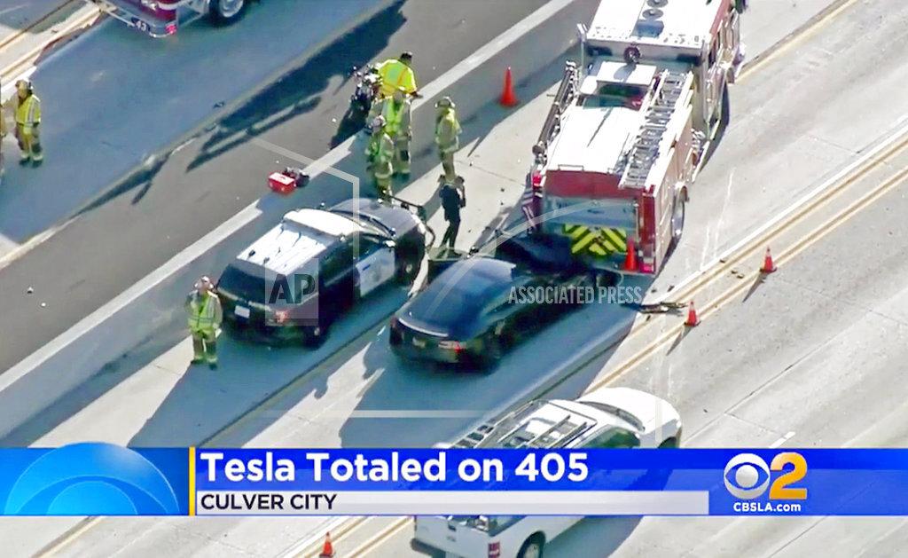 Tesla Freeway Crash