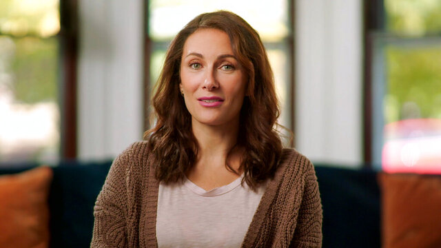 "This image released by HBO Max shows Laura Benanti from ""Homeschool Musical: Class of 2020,"