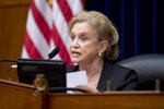 Chairwoman Rep. Carolyn Maloney, D-N.Y., speaks during a House Committee on Oversight and Reform hearing on the 2020 Census on Capitol Hill, Wednesday, July 29, 2020, in Washington. (AP Photo/Andrew Harnik)