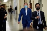 Geoffrey Berman, former federal prosecutor for the Southern District of New York, arrives for a closed door meeting with House Judiciary Committee, Thursday, July 9, 2020, in Washington. (AP Photo/Andrew Harnik)