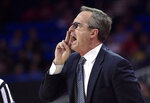 UCLA interim coach Murry Bartow yells to his team during the first half of an NCAA college basketball game against Stanford on Thursday, Jan. 3, 2019, in Los Angeles. (AP Photo/Mark J. Terrill)