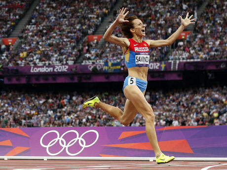 Athletics Russian Doping Savinova
