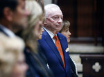 Dallas Cowboys owner Jerry Jones is pictured before the funeral service for T. Boone Pickens, Thursday, Sept. 19, 2019 at Highland Park United Methodist Church in Dallas. (Tom Fox/The Dallas Morning News via AP, Pool)