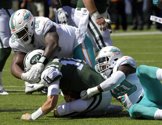 Dolphins Front Four Football