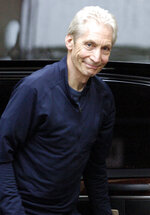FILE - Charlie Watts of The Rolling Stones arrives at the Phoenix Concert Theater in Toronto on Aug. 10, 2005. Watts' publicist, Bernard Doherty, said Watts passed away peacefully in a London hospital surrounded by his family on Tuesday, Aug. 24, 2021. He was 80.  (Aaron Harris/The Canadian Press via AP, File)
