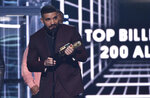 Drake accepts the top billboard 200 album award for