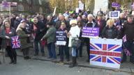 UK Budget Protest