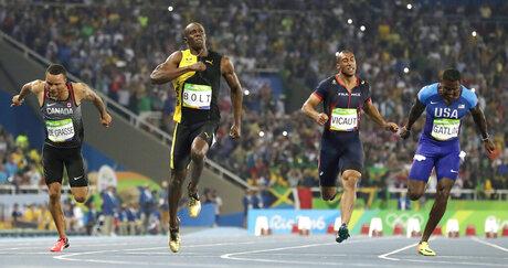 Rio Olympics Athletics Watching Bolt