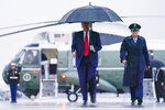 President Donald Trump walks to board Air Force One for a campaign rally in Mosinee, Wis., Thursday, Sept. 17, 2020, in Andrews Air Force Base, Md. (AP Photo/Evan Vucci)