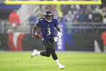 Baltimore Ravens quarterback Robert Griffin III runs for yardage against the Pittsburgh Steelers during the first half of an NFL football game, Sunday, Dec. 29, 2019, in Baltimore. (AP Photo/Nick Wass)