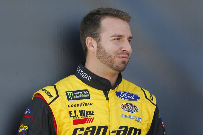 FILE - This is a Nov. 11, 2018, file photo showing NASCAR driver Matt DiBenedetto in Avondale, Ariz. DiBenedetto says he was told by Leavine Family Racing that he will not be back for a second season with the team in 2020. DiBenedetto is a career-best 23rd in the points standings. (AP Photo/Rick Scuteri, File)