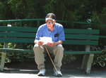 Pete Martorana of Ocean Township, N.J., studies a betting sheet outside Monmouth Park racetrack in Oceanport, N.J., before placing his bets on baseball games on Thursday, July 12, 2018, the same day that state gambling regulators revealed that gamblers made $16.4 million in sports bets during the first two weeks it was legal in New Jersey last month. (AP Photo/Wayne Parry)