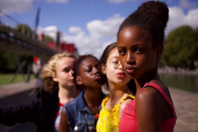 This image released by Netflix shows the cast of the coming-of-age film