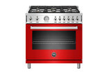 """This image provided by Bertazzoni shows one of their red ranges. Rich, saturated hues are moving from accent walls and small accessories to whole rooms, and even appliances. """"In North America, red is our warm-color best-seller,"""" says high end Italian kitchen appliance maker Bertazzoni's head of style & design, Valentina Bertazzoni. """"By incorporating colors like red, the kitchen space can feel livelier and more inviting. And more homeowners are catching on to the idea that a colorful range can serve as an anchor or protagonist for a design concept."""" (Bertazzoni via AP)"""
