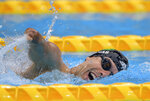 Daniel Brazil's De Faria Dias in action during the swimming Men's 200m Freestyle S5 heats at the Tokyo Aquatics Centre at the Tokyo 2020 Paralympic Games in Tokyo, Wednesday, Aug. 25, 2021. (Joel Marklund for OIS via AP)