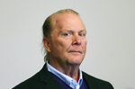 Chef Mario Batali is arraigned on a charge of indecent assault and battery in Boston Municipal Court in connection with a 2017 incident at a Boston restaurant, Friday, May 24, 2019, in Boston.  (David L Ryan/The Boston Globe via AP, Pool)