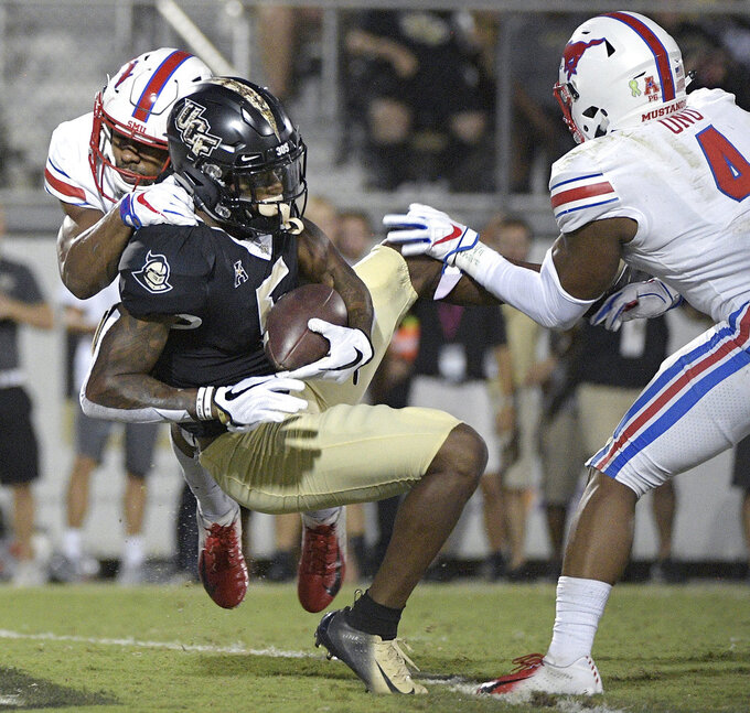 Milton, No. 12 UCF beats SMU 48-20 for 18th straight win