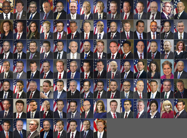 These images provided by the Department of Justice, show U.S. Attorneys from across the United States. The nation's top federal prosecutors have become less diverse under President Donald Trump than under his three predecessors. White men are overwhelmingly in charge of federal law enforcement amid a national paroxysm over racial inequality and criminal justice. (Department of Justice via AP)