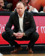 Wisconsin head coach Greg Gard watches from the sideline during the second half of an NCAA college basketball game against Richmond in the Legends Classic, Monday, Nov. 25, 2019, in New York. Richmond defeated Wisconsin 62-52. (AP Photo/Kathy Willens)