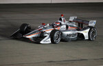 Will Power races his car during the IndyCar Series auto race Saturday, July 20, 2019, at Iowa Speedway in Newton, Iowa. (AP Photo/Charlie Neibergall)
