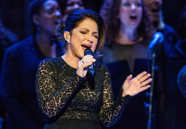 FILE - Gloria Estefan sings