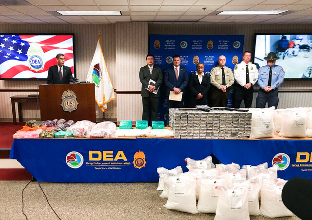 U.S. Drug Enforcement Administration Acting Administrator Uttam Dhillon announced the launch of Operation Crystal Shield at a news conference in Atlanta on Thursday, Feb. 20, 2020. Federal authorities say they are targeting methamphetamine