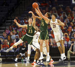 William & Mary forward Ben Wight (35) and William & Mary guard Connor Kochera (23) goes after the loose ball with Virginia forward Kadin Shedrick (21) during an NCAA college basketball  game Tuesday, Dec. 22, 2020, in Charlottesville, Va. (Andrew Shurtleff/The Daily Progress via AP)