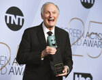 FILE - Alan Alda poses with the Life Achievement Award in the press room at the 25th annual Screen Actors Guild Awards on Jan. 27, 2019, in Los Angeles. Alda turns 85 on Jan. 28. (Photo by Jordan Strauss/Invision/AP, File)