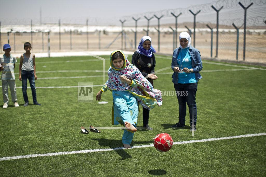 APTOPIX Mideast Jordan Malala Refugees