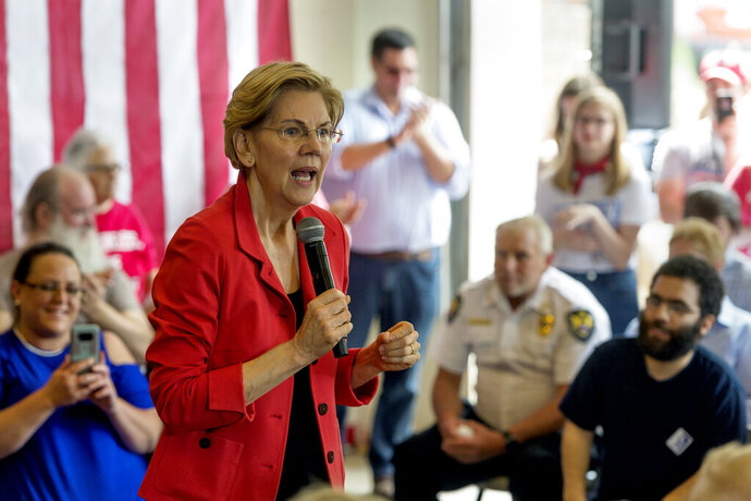 2020 Democratic presidential candidate Sen. Elizabeth Warren, D-Mass., speaks during a
