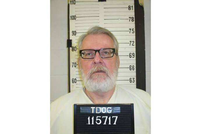 This booking photo released by the Tennessee Department of Corrections shows Stephen West. The Tennessee death row inmate is asking Gov. Bill Lee to spare his life, maintaining that he didn't actually kill a mother or her daughter three decades ago. West's clemency application says his co-defendant, then-17-year-old Ronnie Martin, stabbed both people to death. His execution is slated for Aug. 15. Martin is serving a life sentence and is eligible for parole in 2030.  (Tennessee Department of Corrections via AP)