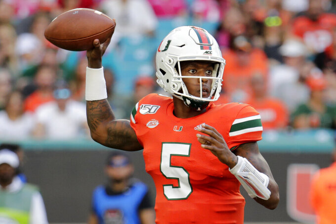 Williams hurt, Perry back in starting QB role for Miami