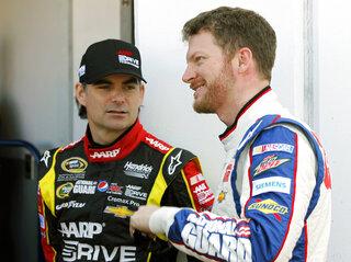 Jeff Gordon, Dale Earnhardt Jr.