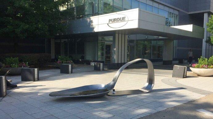 An 800-pound sculpture, titled