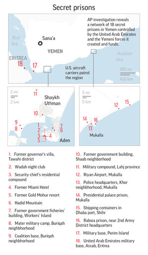 In Yemen\'s secret prisons, UAE tortures and US interrogates