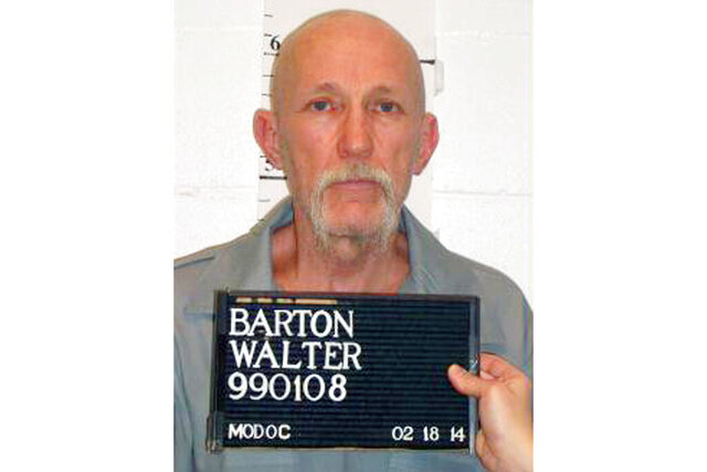 FILE - This Feb. 18, 2014, file photo, released by Missouri Department of Corrections, shows death row inmate Walter Barton, convicted of killing an 81-year-old mobile home park manager nearly three decades ago now faces execution in May. The Missouri Supreme Court on Tuesday, May 13, 2020, set a May 19, execution date for Barton (Missouri Department of Corrections via AP, File)