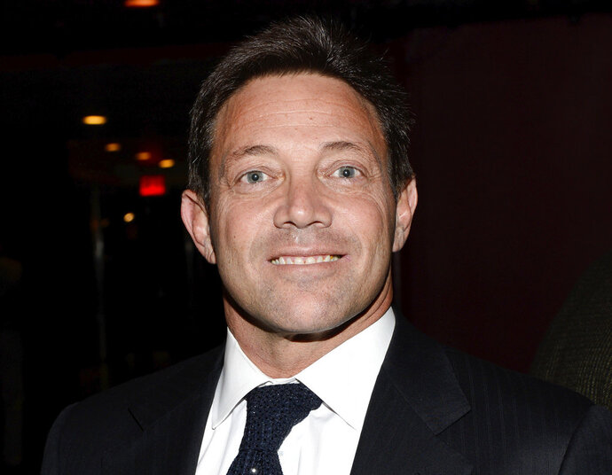 FILE - In this Tuesday, Dec. 17, 2013, file photo, Jordan Belfort attends the premiere party for