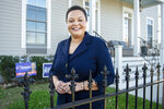 State Sen. Karen Carter Peterson poses outsider her home in New Orleans on Wednesday, March 3, 2021. Peterson is running for Louisiana's 2nd Congressional District seat which was vacated by Cedric Richmond after he left to be part of President Joe Biden's administration.(Chris Granger/The Times-Picayune/The New Orleans Advocate via AP)