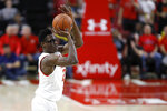 Maryland forward Jalen Smith shoots against Rutgers during the first half of an NCAA college basketball game Tuesday, Feb. 4, 2020, in College Park, Md. (AP Photo/Julio Cortez)