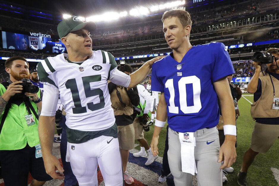 Josh McCown, Eli Manning