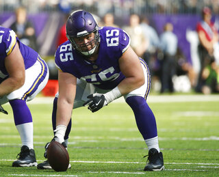 Vikings Center of Attention Football