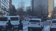 Biden Motorcade Arrives at DC Cathedral Ahead of Inauguration