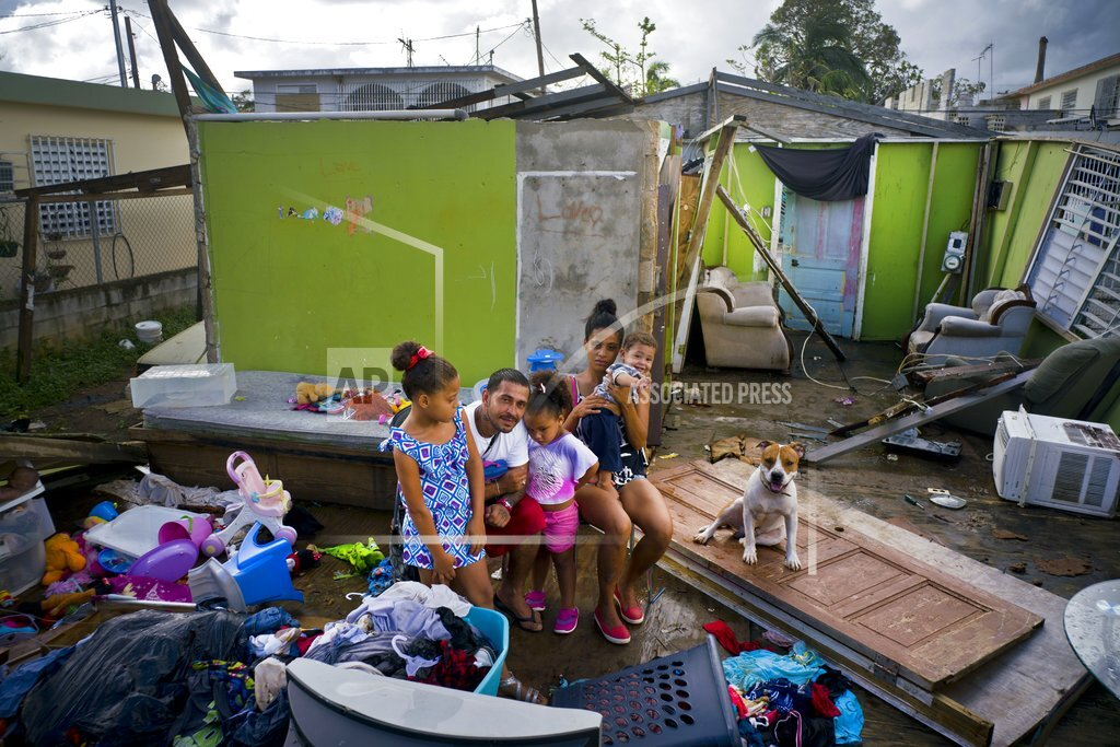 APTOPIX Puerto Rico Hurricane Maria Shelter Life