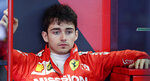 Ferrari driver Charles Leclerc of Monaco sits in the garage during the third free practice at the Barcelona Catalunya racetrack in Montmelo, just outside Barcelona, Spain, Saturday, May 11, 2019. The Formula One race will take place on Sunday. (AP Photo/Manu Fernandez)
