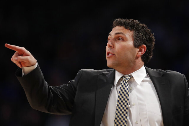 Georgia Tech head coach Josh Pastner yells to his players in the first half of an NCAA college basketball game against Duke Wednesday, Jan. 8, 2020, in Atlanta. (AP Photo/John Bazemore)