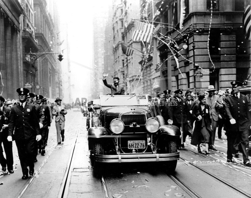 Associated Press Domestic News New York United States WILEY POST TICKERTAPE PARADE